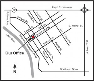 Map to Evansville Office