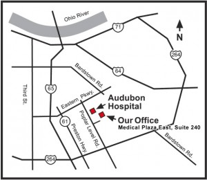 Map to Louisville Office